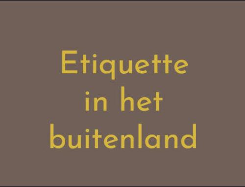 Etiquette in het buitenland